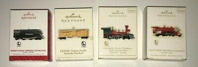 Hallmark Keepsake Lionel Collector Train Ornaments (4) - Train Ornaments