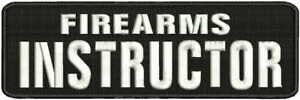 Firearms Instructor embroidery patches 3x9 hook white letters