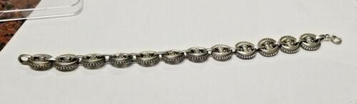 Vintage Massive Sterling Silver Bracelet 36.5 Grams 7.5 inches long