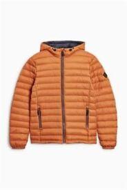 mens next tan/orange jacket sizze M