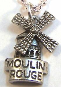 Silver Plated Moulin Rouge Link Chain Necklace 24