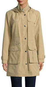 THE  BRAND NEW KHAKI '''' DKNY ''' HOODED ANORAK JACKET FOR SALE