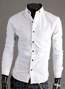 Mens High Collar Shirt