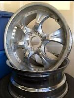 Pair of Six Spoke MWP Rims with a Chrome Finish