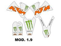 KIT KTM SX EXC 2000, 2001, 2002 Sticker best quality.