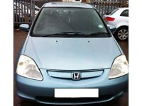 2001 HONDA CIVIC 1.4 PETROL - LIGHT BLUE/GREEN COLOUR 90K LONG MOT