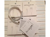 Wholesale JobLot 100x genuine Apple 1m lightening USB sync charging cables for iPhone 5 6 (8 pin)