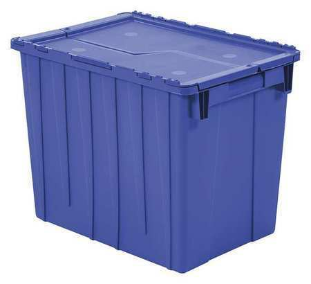 ORBIS FP22 BLUE Attached Lid Container, 2.2 cu. ft.