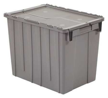 ORBIS FP22 GRAY Attached Lid Container, 2.2 cu. ft., Gray