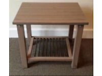 Small light brown side table