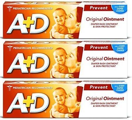 A+D Original Diaper Rash Ointment 4 oz (3 Pack)