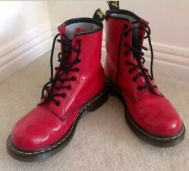 Patent Leather Red Dr Martens - UK Size 6/EU 39