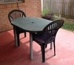 Pvc Patio Table And Chairs Outdoor Dining Furniture Gumtree