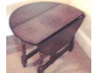 Large Genuine Norfolk Vintage folding dark oak side or coffee table