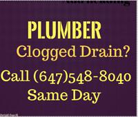 Ahmad Plumber Clogged Toilet/Sink/MainDrain? Call (647)548-8040