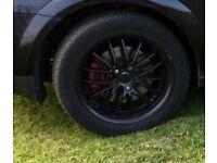 "Black 17""inch spoke alloys"