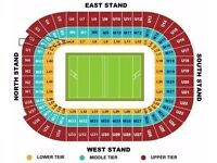 Pair of tickets WALES v IRELAND. level 6! best seats, rugby, lower block