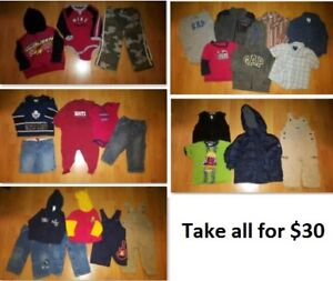 18 Mths Baby Boys Clothing Lot 1 (Take all 25 Pieces for $30)