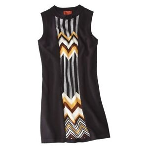 NWT-Missoni-for-Target-Sleeveless-Sweater-Dress-Black-Multicolored-XS-S-M-L-XL
