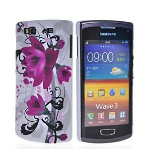 SAMSUNG S8600 WAVE 3 FLORAL RETRO HARD SILICONE GEL CASE COVER NEW UK SELLER #11