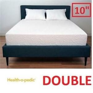 "NEW HEALTH-O-PEDIC MEMORY MATTRESS 655-110 144408411 DOUBLE 10"" COOLING GEL FOAM QUEEN BED BEDS MATTRESSES BEDROOM BE..."