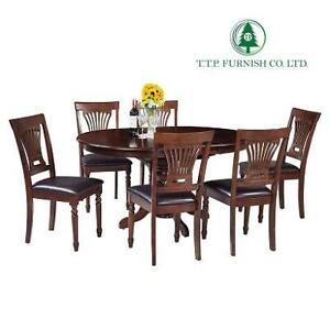 NEW* TTP FURNISH 7PC DINING SET 22TE30CL-7ES 140774759 ESPRESSO VALLEYVIEW