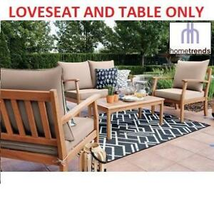 NEW HOMETRENDS 2PC PATIO SET NP175006F 198659011 HAVANA LOVESEAT COFFEE TABLE PATIO FURNITURE