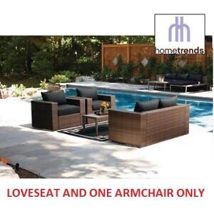 NEW* HOMETRENDS 2 PC PATIO SET KFSET-166 165246785 BORWICK SET LOVESEAT COUCH CHAIR