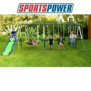 NEW SPORTSPOWER 7 STATION PLAYSET MSC-3782-6 250255510 ROSEMEAD SWINGSET SLIDE SLIDES