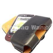 LG P500 Leather Case