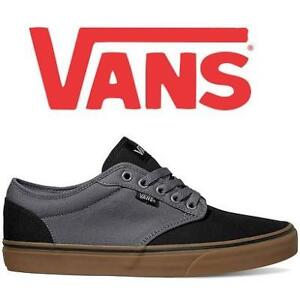 NEW VANS ATWOOD MEN'S 7 VN0A327LMF5 206271460 2 TONE BLACK AND GUM SKATE SHOES