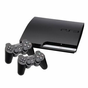 PS3 w/ 2 CONTROLLERS &TV-STYLE REMOTE.  GREAT CHRISTMAS GIFT! Kitchener / Waterloo Kitchener Area image 1