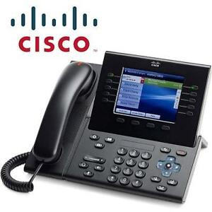 NEW CISCO UNIFIED IP VOIP PHONE VIDEO PHONE - MULTI LINE - CHARCOAL GREY - POE VOIP PHONE 96542486