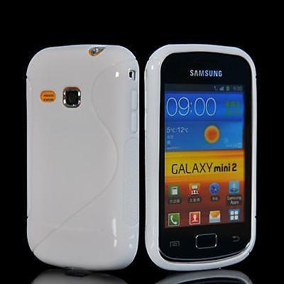 Samsung S6500 Galaxy Mini 2 - Housse silicone souple anti choc BLANC