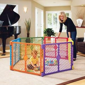 Superyard xt play pen 6 piece with 2 piece extension kit
