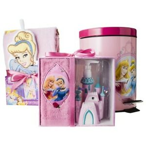 Disney princess shower curtain hooks lotion pump towel for Disney princess bathroom set