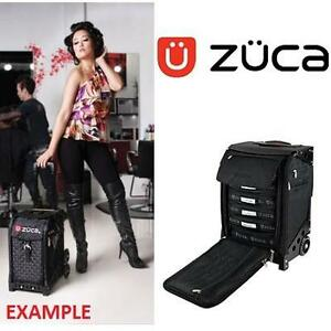 """NEW* ZUCA FLYER ARTIST LUGGAGE CASE BLACK - CARRY ON LUGGAGE - 14"""" x10""""x20"""" 101043770"""