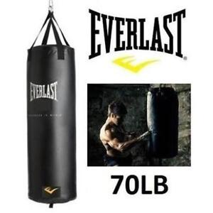 NEW EVERLAST 70LB PUNCHING BAG 7707KITC 201672345 EXERCISE FITNESS WORKOUT BOXING SPAR MMA