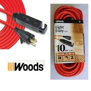 NEW WOODS LIGHT DUTY 10M CORD 32' - 16 GAUGE EXTENSION 86780436