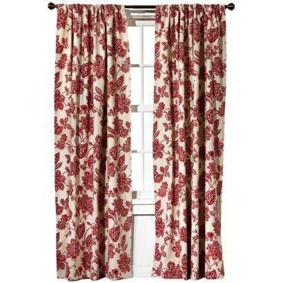 Target Red Curtains Ebay