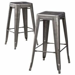Carlisle Metal Counter Stool - Set of 2