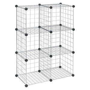 Metal Cube Shelving (in the chrome/silver/metal finish)