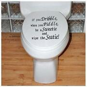 Toilet Seat Stickers