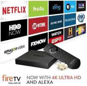 Amazon FIRE TV Box 4K SEALED, Cut the Cord, Free Apps on PRIME