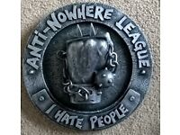 Anti nowhere league - I hate people wall mounted plaque