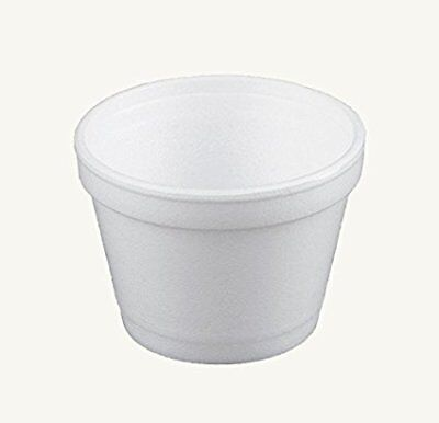 Dart 4 Ounce Foam - Dart 4J6, 4 Oz White Foam Food Containers with Vented Lids, 50PCS