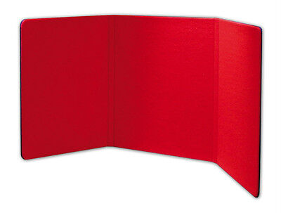6 Foot Wide Tabletop 3-fold Panel Redblack Color