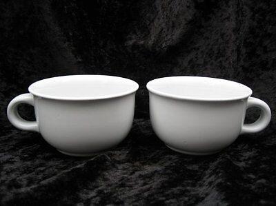 Dansk International Designs Mesa Short Plain White 2 Coffee Cups Mugs ~ Japan