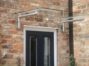 Luxury stainless steel real glass canopy porch door shelter balcony ebay - Verriere externe ...