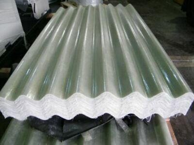 GRP 6ft Translucent Transparent Big 6 Fibre Cement Profile Roofing Sheets